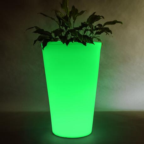 Vaza Ghiveci Frapiera CILLY V XL cu sistem de iluminare RGB