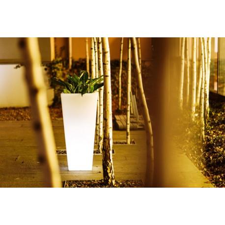 Vaza Ghiveci Frapiera VICKY V natur cu sistem de iluminare RGB