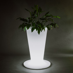 Vaza Ghiveci Frapiera ICKY V L natur cu sistem de iluminare RGB